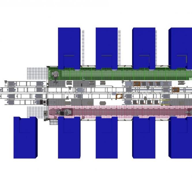 Célula robotizada alimentación centros mecanizado
